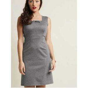 NWOT ModCloth Retro Sheath Dress Gray Medium M